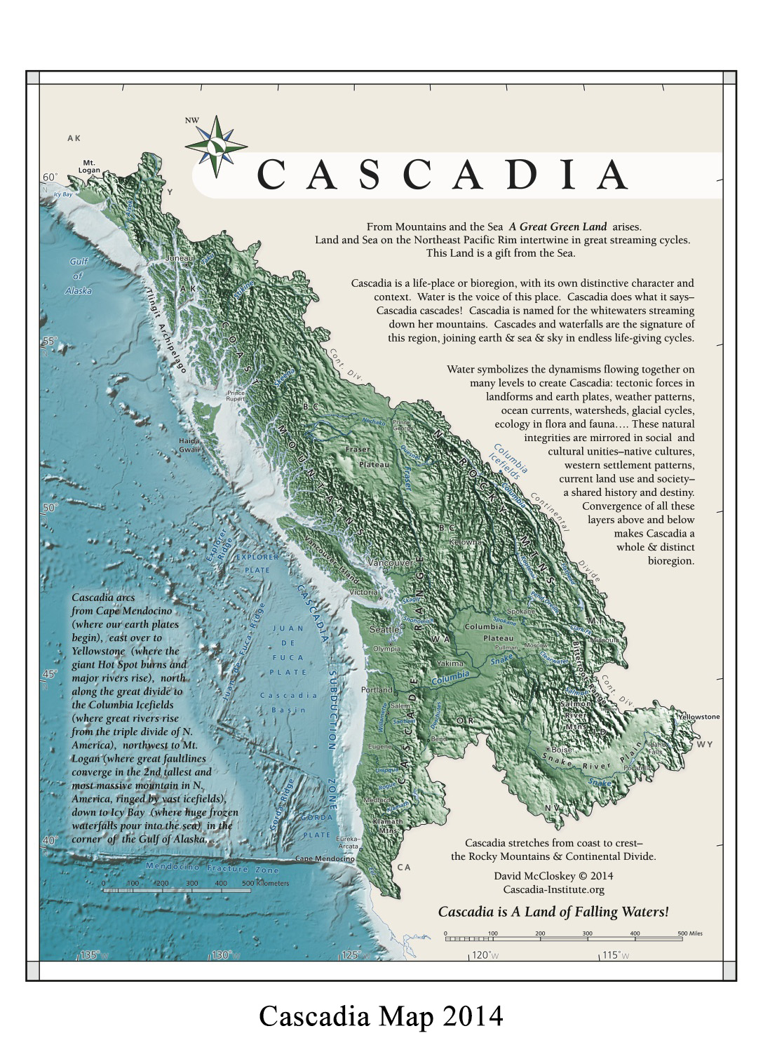 Cascadia Geography Of Bioregion Name Flag Images Maps - Map of us bioregions ancient food traditions