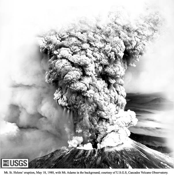 Mt. St. Helen's Eruption photo USGS
