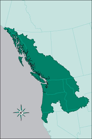 Cascadia Map - States