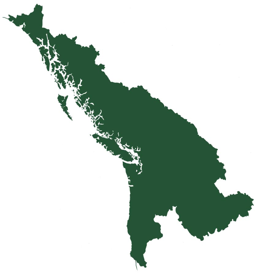 Cascadia region map